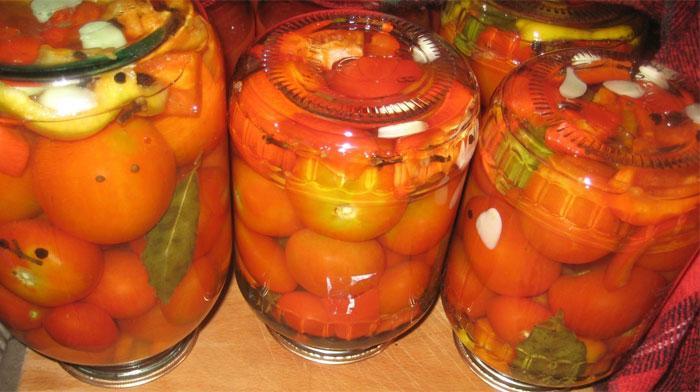 Маринованные помидоры сладко-острые
