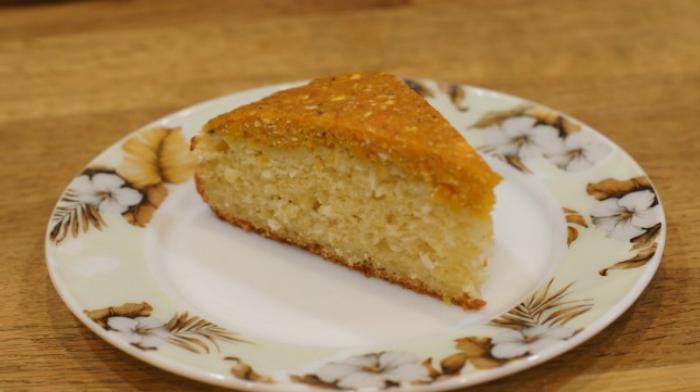 Тыквенный пирог с кокосовой стружкой