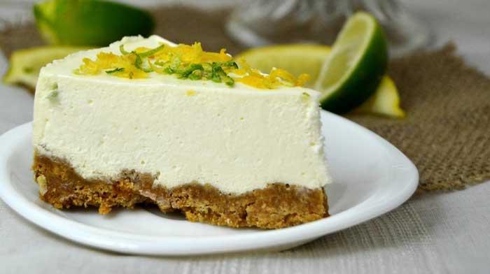 Лимонный торт с сыром филадельфия