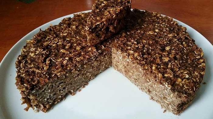 Шоколадный пирог из овсянки
