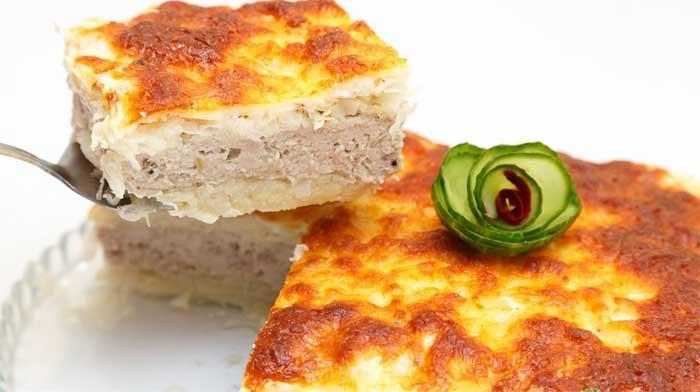 капустный пирог с мясом