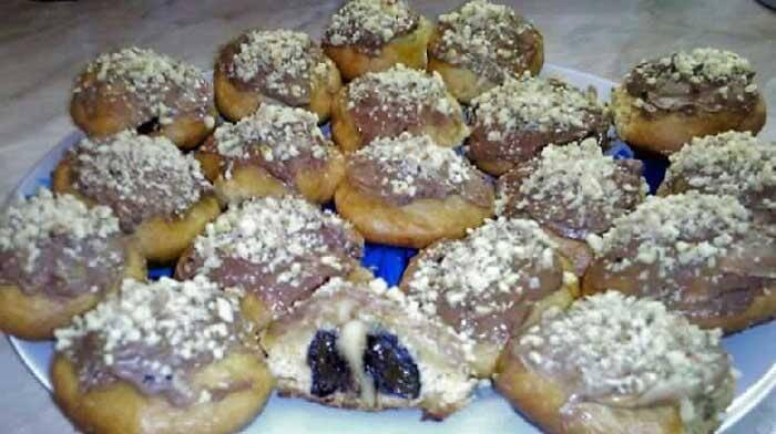 Печенье с курагой, черносливом и орехами