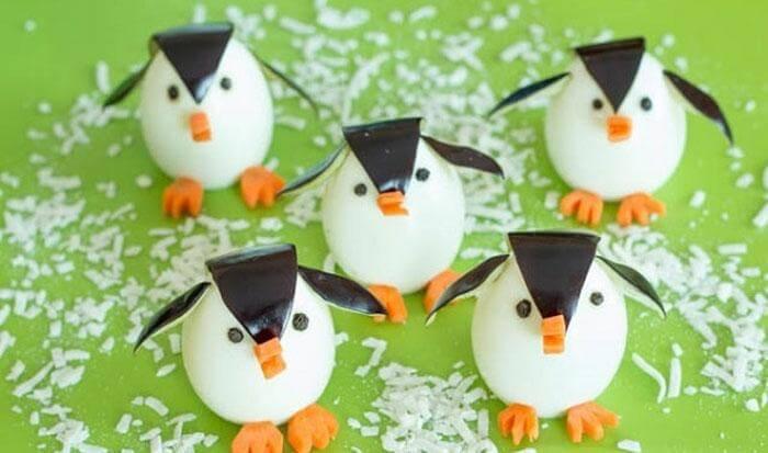 Пингвинчики на новогоднем столе