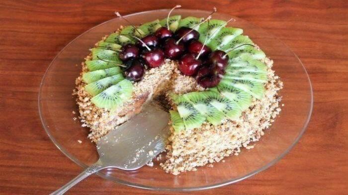 Холодный торт из пряников и сметаны