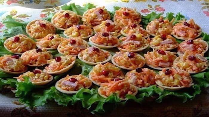 Тарталетки с начинкой рецепты самые вкусные с красной икрой