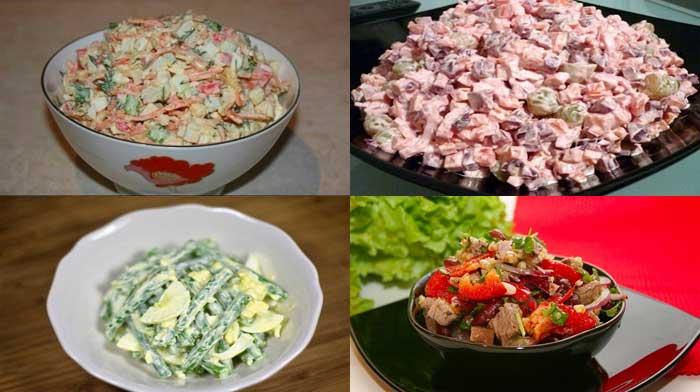 вкусные простые салатики рецепты