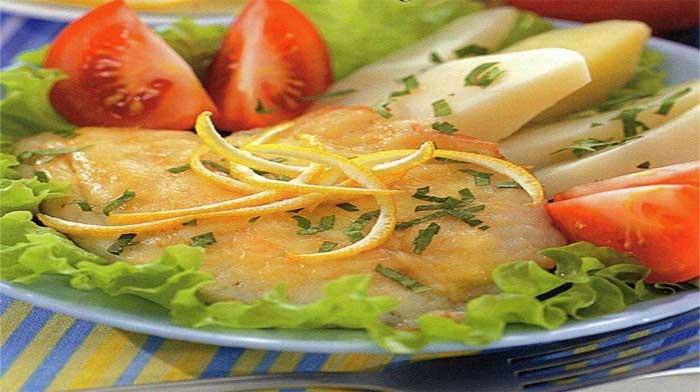 Камбала в сырном соусе