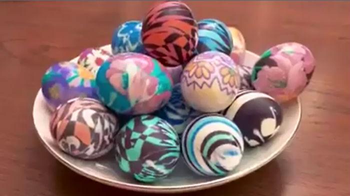 яйца в шелках