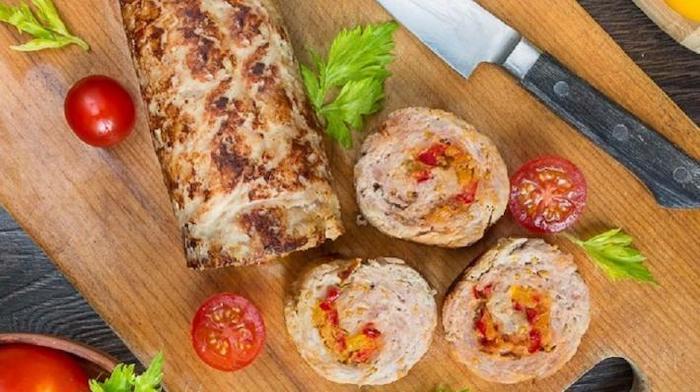 Рецепт рулета из свинины с болгарским перцем