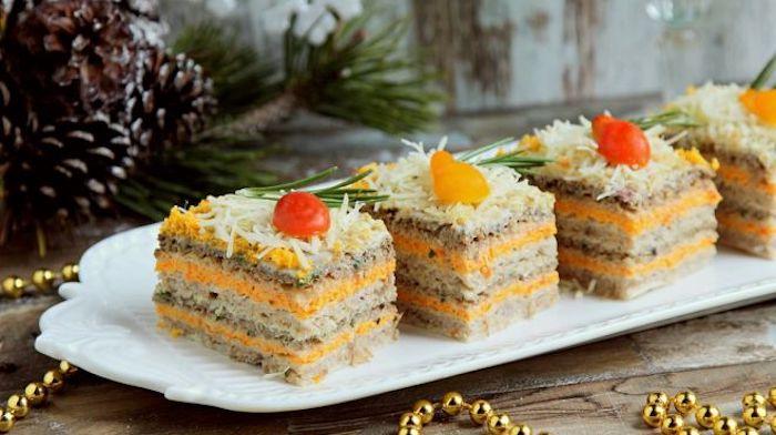 Селедочные тортики