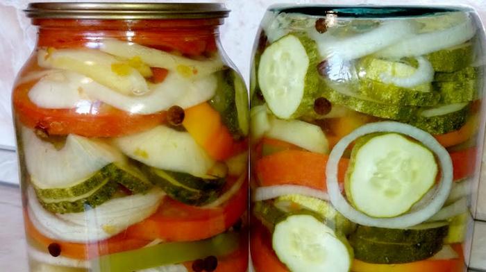Отменный овощной салатик на зиму. Готовлю каждый год!