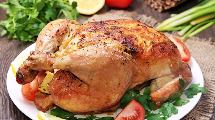 Запеченная курица в чесночно-розмариновом маринаде. Уж очень вкусно!