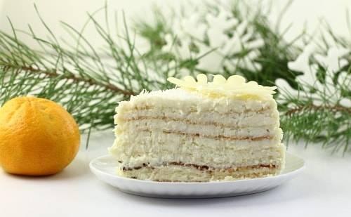"""Торт """"Зима"""" кусок"""