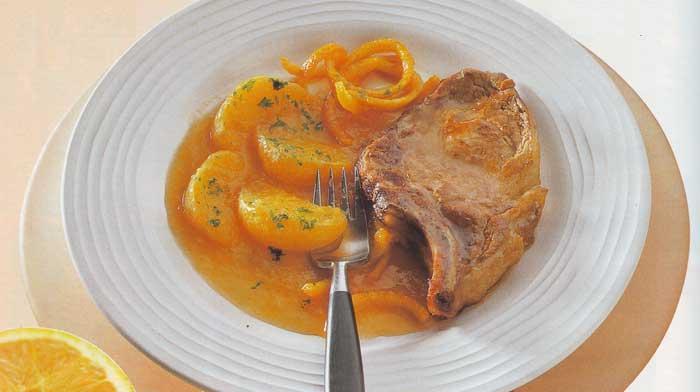 отбивные из свинины в апельсиновом соусе