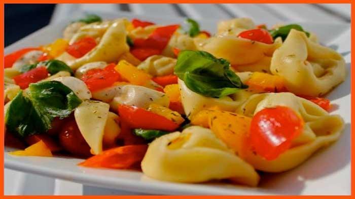 тортеллини в овощах