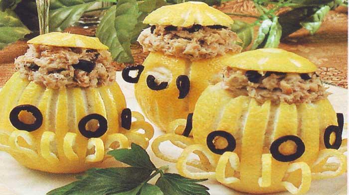 закуска из лимонов с начинкой