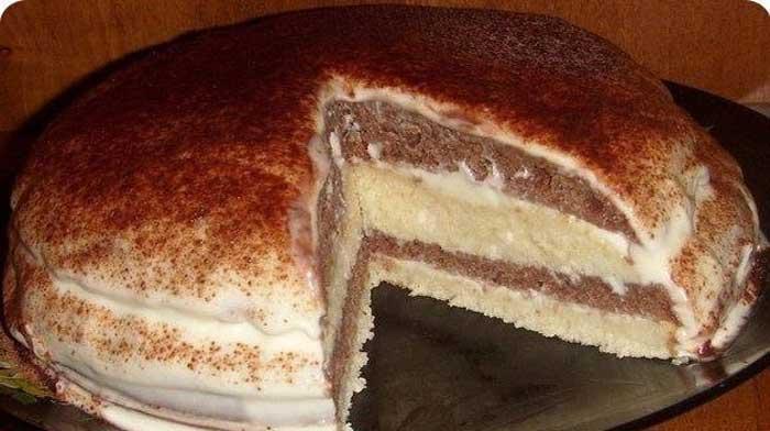 Нежный торт на кефире