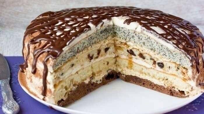"""Торт """"Роскошный сметанник"""""""