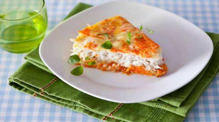 Рыбная запеканка с сыром