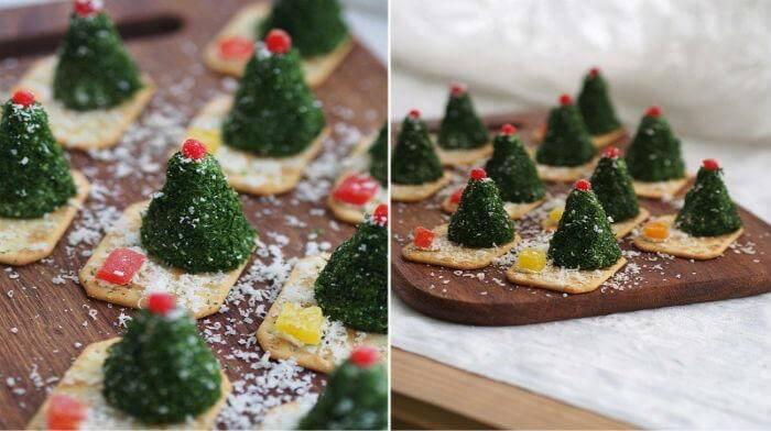 Сырные ёлочки к праздничному столу