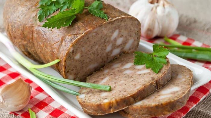 Блюда из печени - Домашняя печеночная колбаса