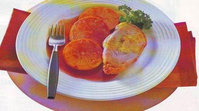 Куриные грудки с апельсинами