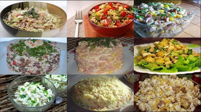 9 вкусных салатов