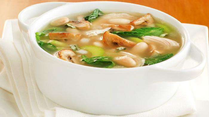 Грибной суп с телятиной