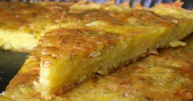 Ленивый картофельный пирог