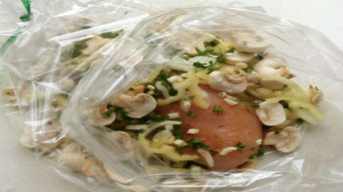 блюда, запеченные в рукаве