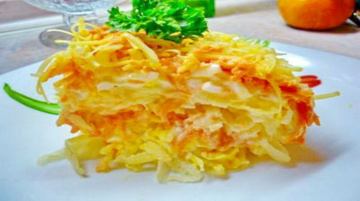 Французский салат- 4 вариации