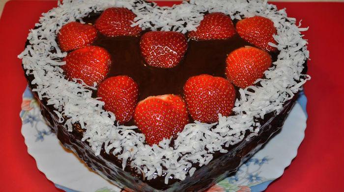 """Торт """"Влюблённое сердце"""""""