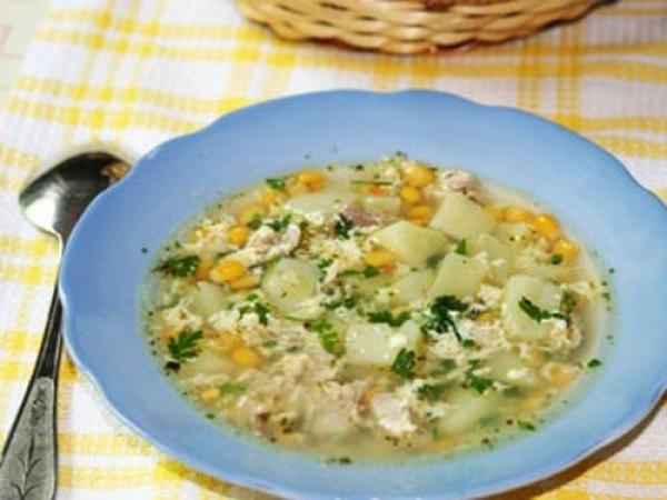 Суп с консервированной кукурузой