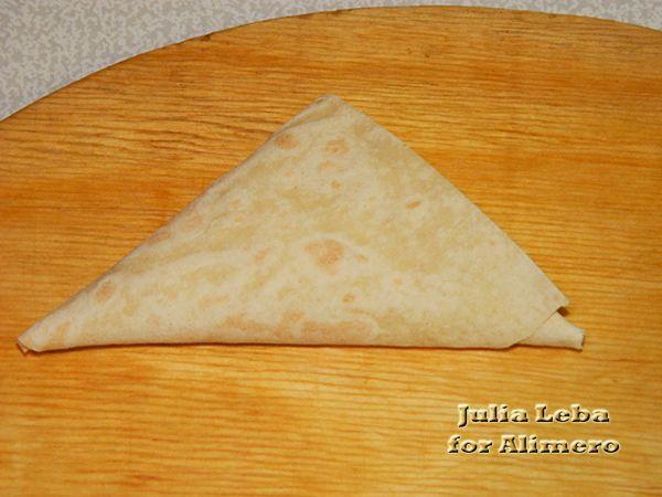 Пирожки из лаваша с творогом и сыром