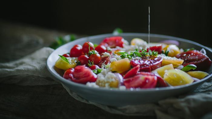 Греческие закуски с оливковым маслом