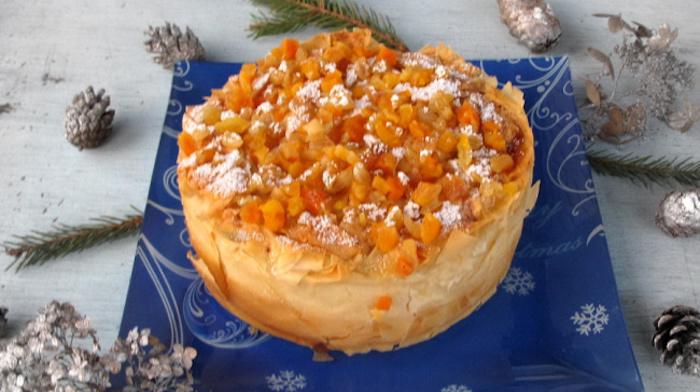 Пирог с творогом из теста фило