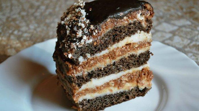 """Многослойный торт """"Закат"""""""