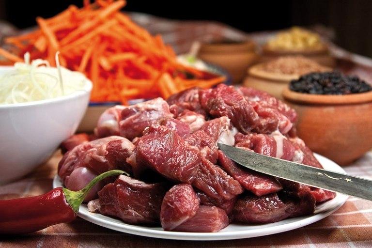 мясо для плова по-фергански