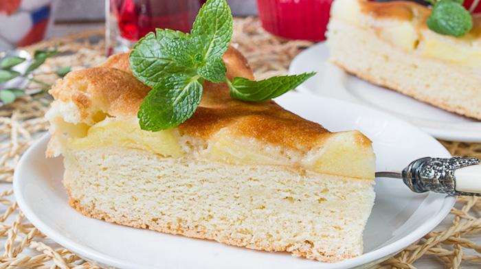 Трехслойный яблочный пирог